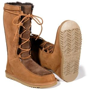 UGG Australia Uptown High Shearling Lace Up Boot